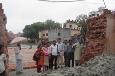 Stop building illegal parking infrastructure diminishing Lalbagh Fort Wall