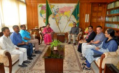 A delegation of BATA and other anti-tobacco organizations met with Honorable Speaker